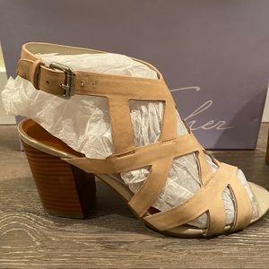 Marc Fisher Taupe Sandal Heels